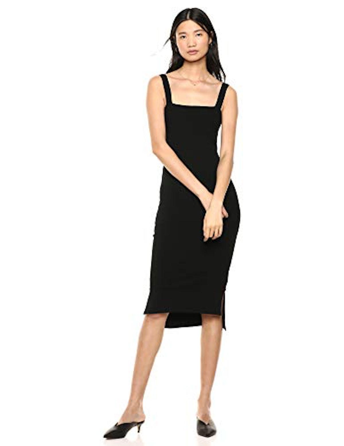 The Drop Women's Amelia Square Neck Strappy Body Con Midi Tank Dress