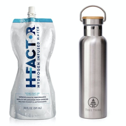 Hydrogen water is one of the wellness items in the 2020 Grammys gift bag; a stainless steel reusable...