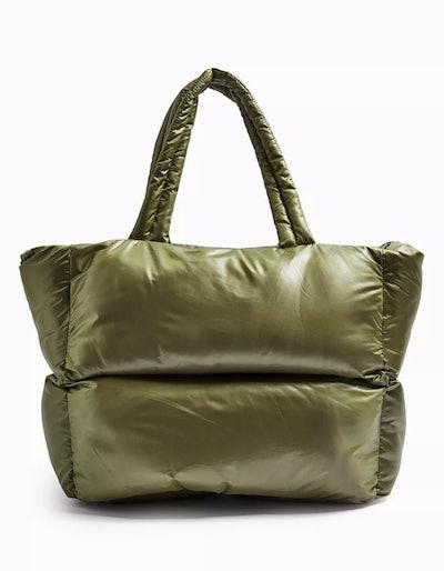 Casa Khaki Puffer Tote Bag