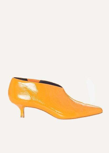 Joe Tangerine Patent Ankle Boots