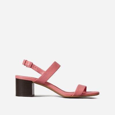 The Double-Strap Block Heel Sandal