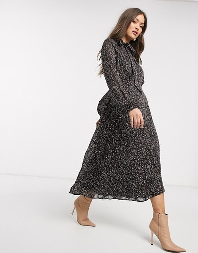 Warehouse Mini Confetti Print Dress