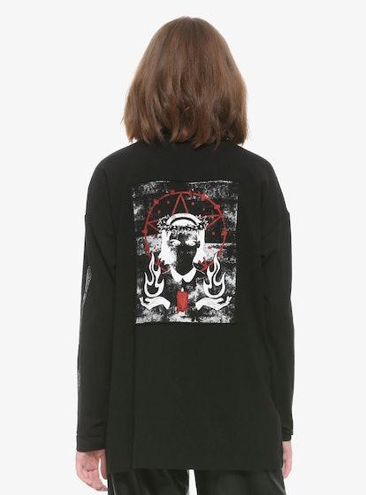 Chilling Adventures Of Sabrina Herald Of Hell Half-Zipper Girls Long-Sleeve T-Shirt
