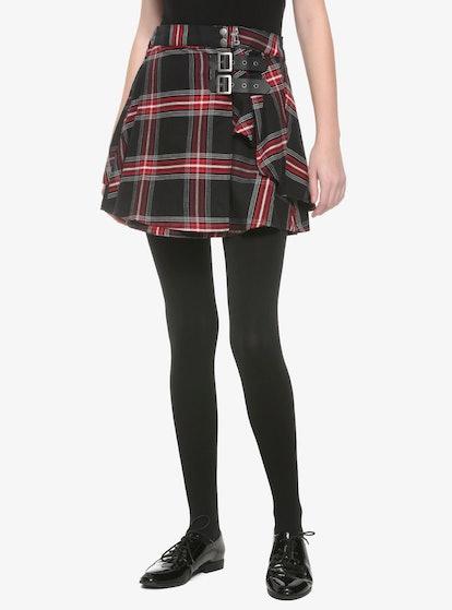 Chilling Adventures of Sabrina Plaid Buckle Skirt
