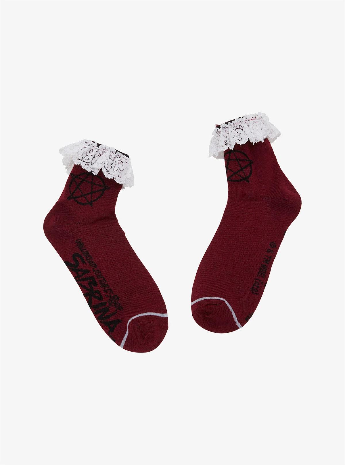 Chilling Adventures Of Sabrina Pentagram Lace Ankle Socks