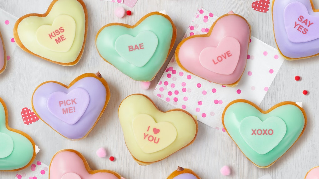 Krispy Kreme's Valentine's Day 2020 Conversation Heart Doughnuts are the perfect sweet treats to share your love this season.