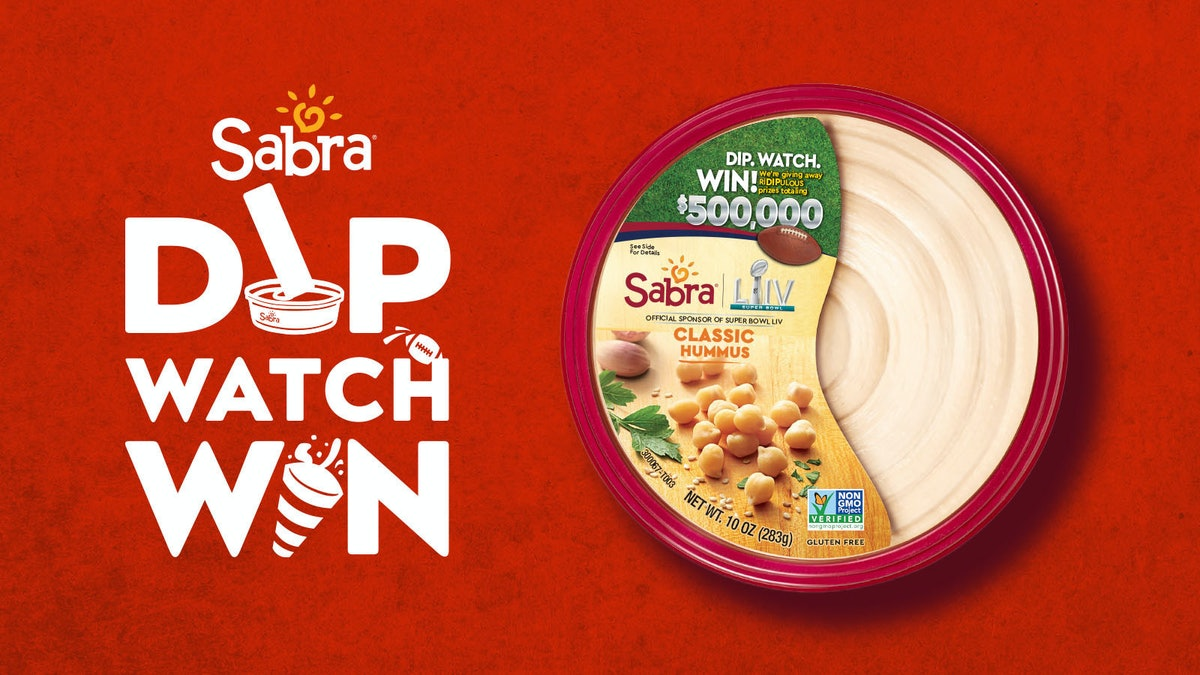 Sabra's Super Bowl 2020 Sweepstakes also include plenty of free hummus.