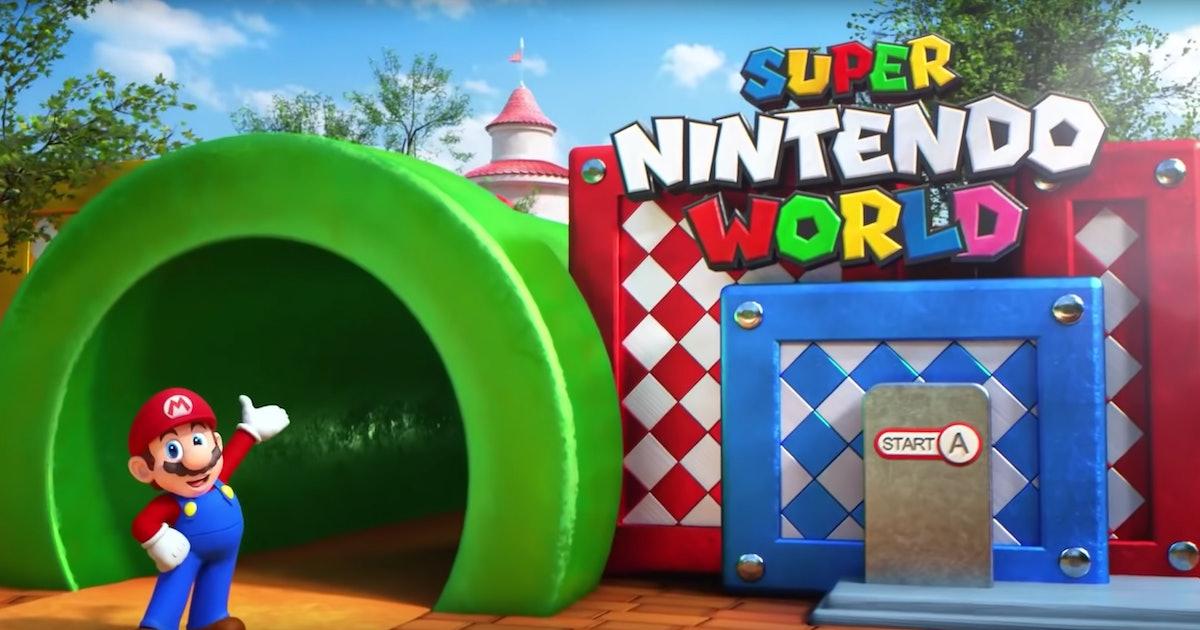 Universal Orlando Will Open A Super Nintendo World Theme Park In 2023