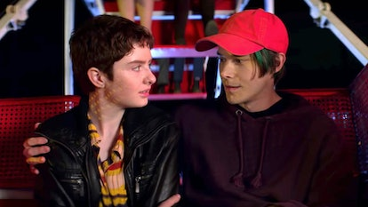 Theo and Robin share a kiss at carnival in CAOS  Part 3.