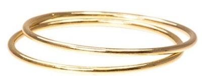 uGems 14K Gold-Filled Stacking Rings (Set of 2)