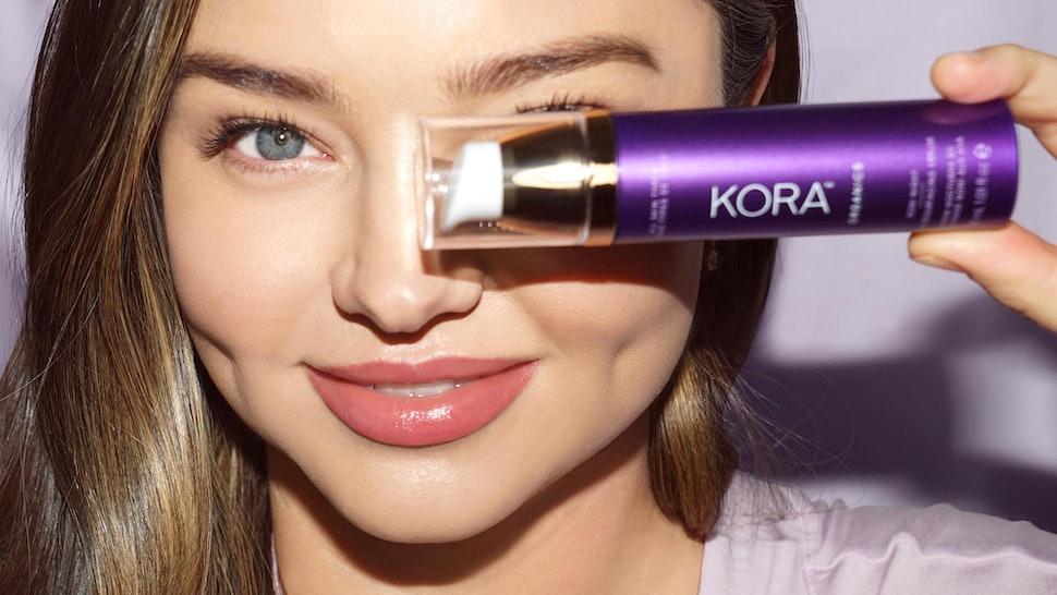 Miranda Kerr's Kora Organics Noni Night Serum is the brand's first chemical exfoliator.