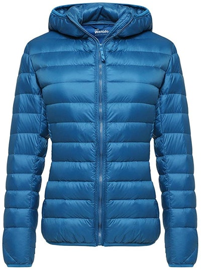 Wantdo Women's Hooded Packable Ultra Light Down Jacket