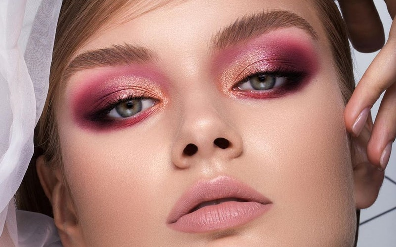 Natasha Denona's new Love Eyeshadow Palette look on model.