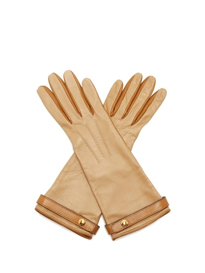 Bi-Colour Leather Gloves