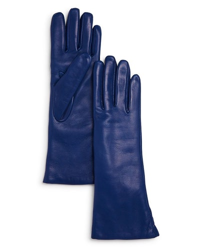 Bloomingdale's Cashmere Lined Long Leather Gloves