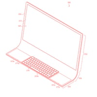 Apple patent dreams of a curved iMac display with a built-in keyboard and two trackpads