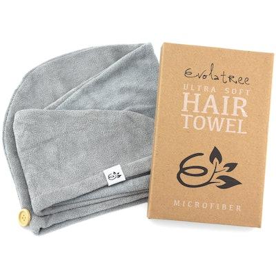 Evolatree Microfiber Hair Towel Wrap