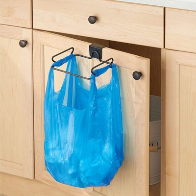 iDesign Classico Steel Over the Cabinet Plastic Bag Holder
