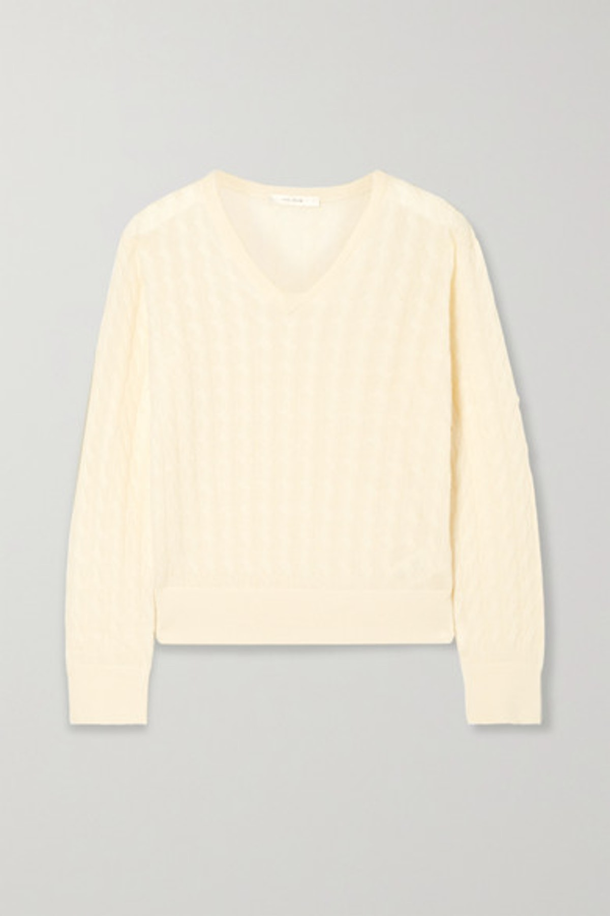 Rozanna Cable-Knit Cashmere And Silk-Blend Sweater