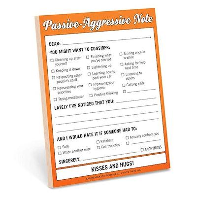 Knock Knock Passive-Aggressive Nifty Note Pad