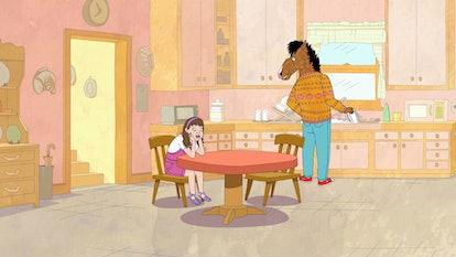 Sarah Lynn (voiced by Kristen Schaal) and BoJack (voiced by Will Arnett) in BoJack Horseman