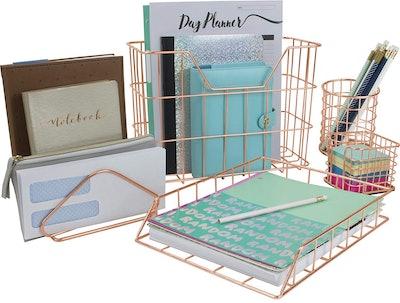 Sorbus 5-Piece Desk Organizer Set
