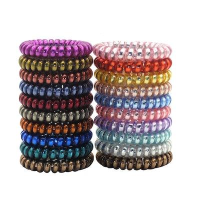 Wbeng Spiral Hair Ties (20-Pack)