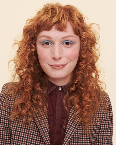 Prose's new custom Curl Cream on model.