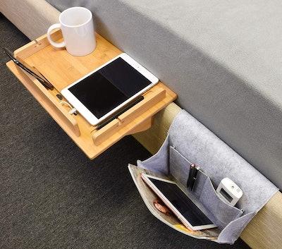 Tirrinia Bedside Shelf Table & Storage Organizer Caddy
