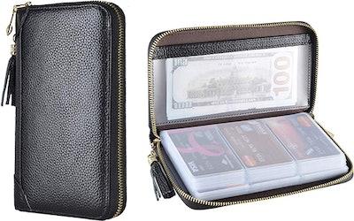 Easyoulife Zipper Leather Wallet