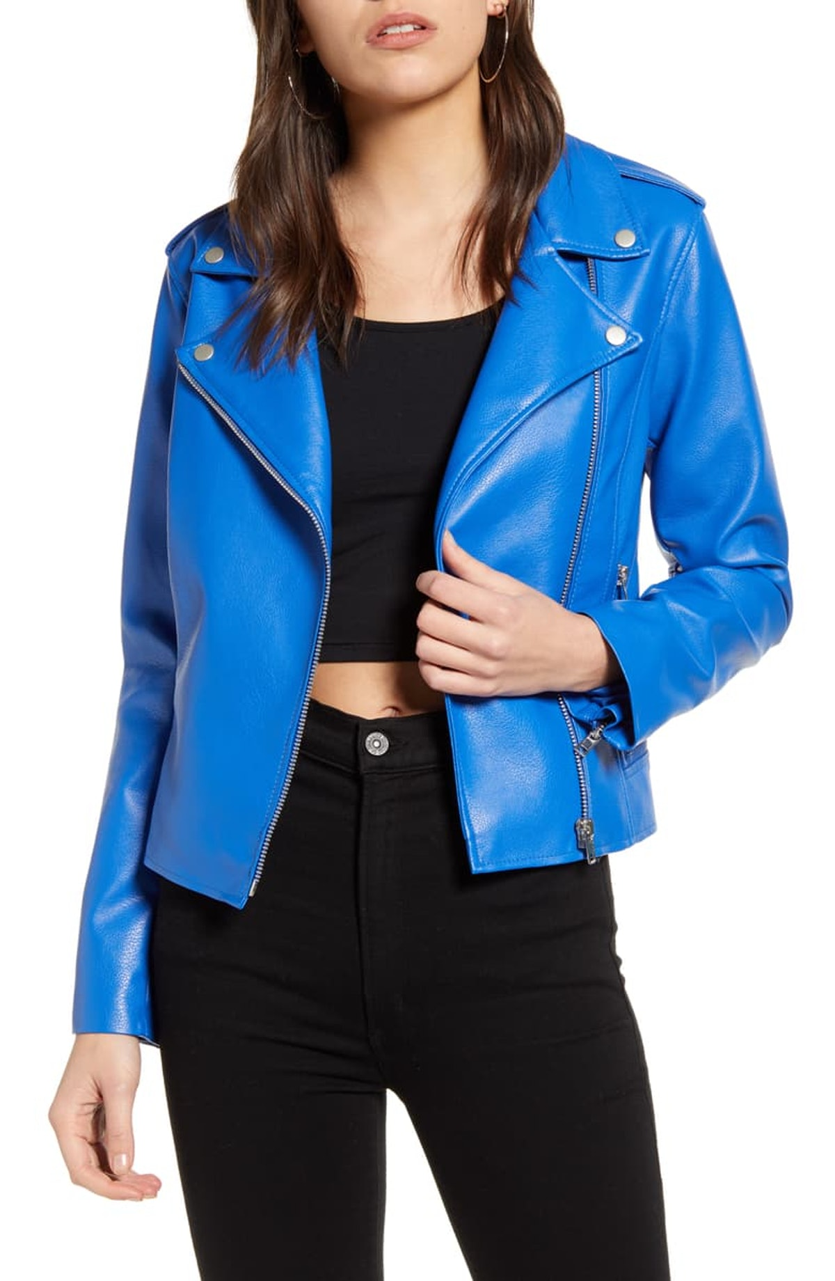 Just Ride Faux Leather Jacket