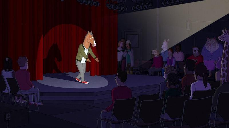 BoJack (voiced by Will Arnett) on stage in BoJack Horseman Season 6