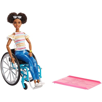 Barbie Fashionistas Doll With Rolling Wheelchair & Ramp