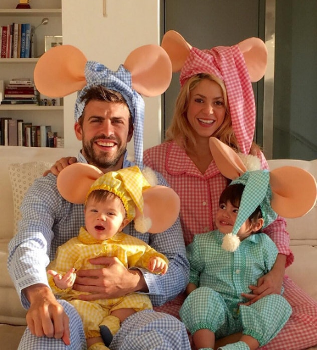 Not even dressing up as classic cartoon characters can make this gorgeous family look uncool.