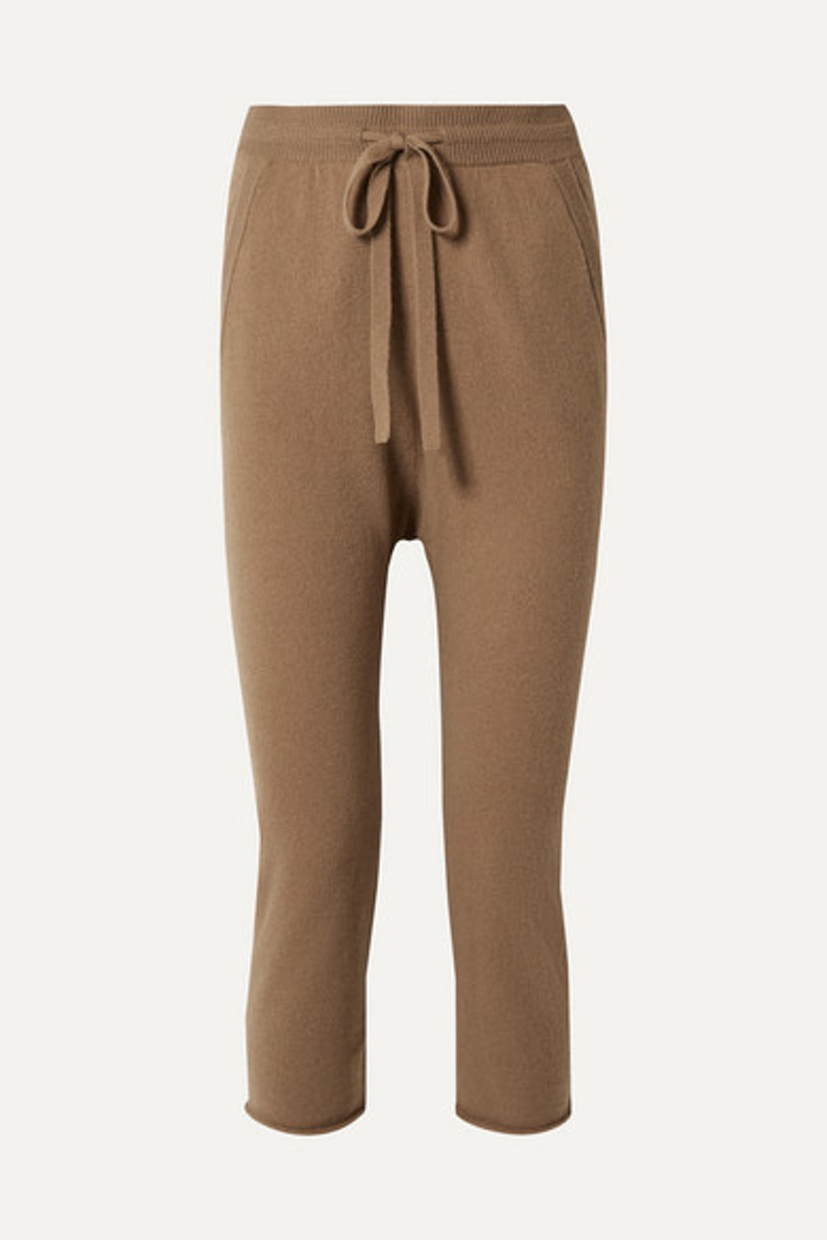 Luna Cropped Straight-Leg Cashmere Pants