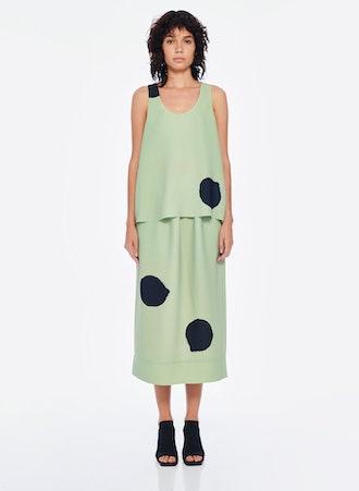 Polka Dot Pull On Skirt