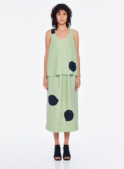 Polka Dot Pull On Skirt