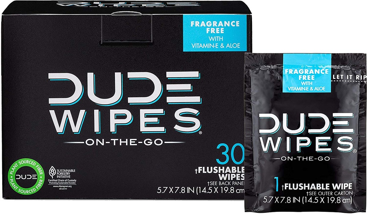 DUDE Wipes Flushable Wet Wipes (30 Pack)