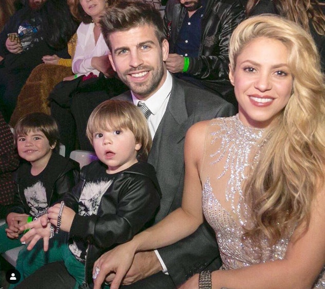 Shakira and her husband got glamorous with their sons in 2016.
