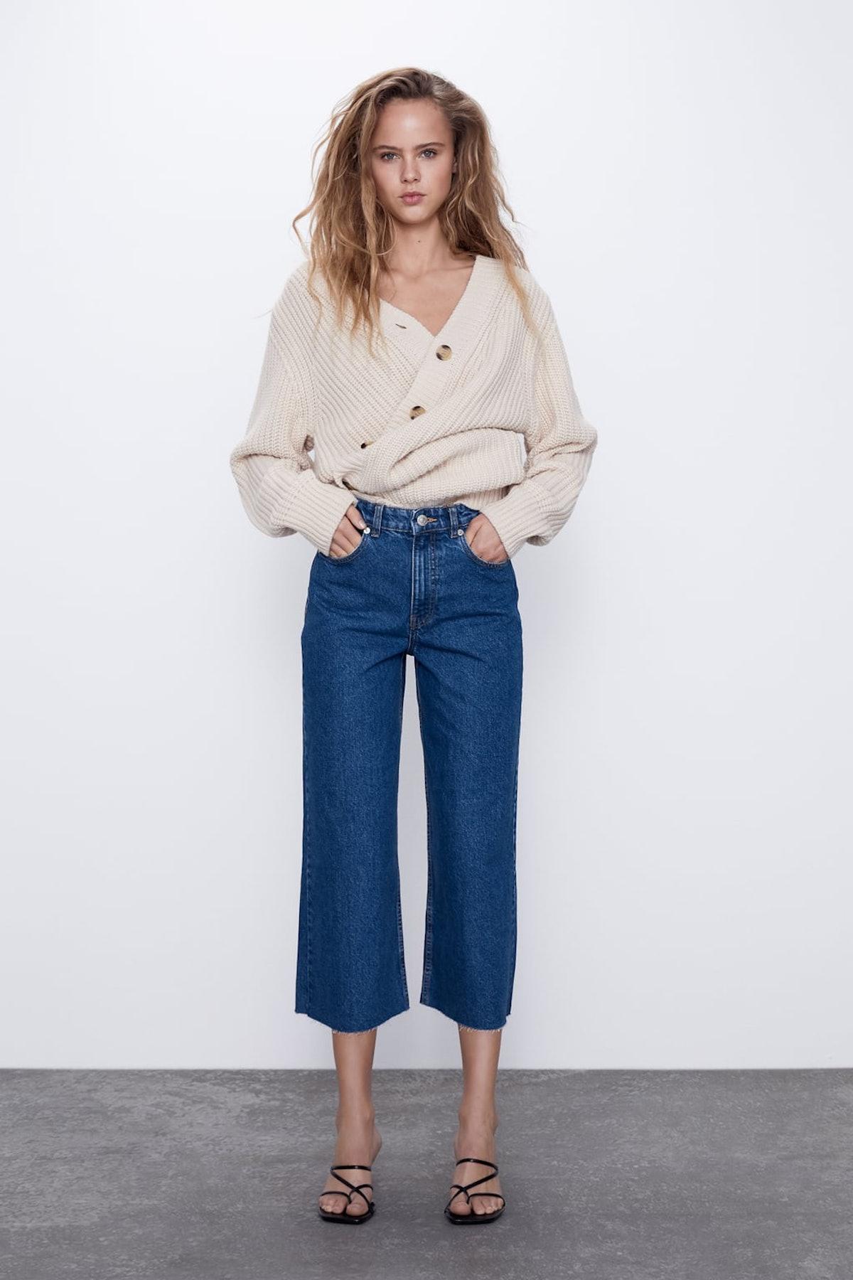 Hi-rise Culotte Jeans