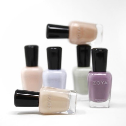 Zoya's new Calm collection for spring is full of pastels that range from pinky nude to French lilac.