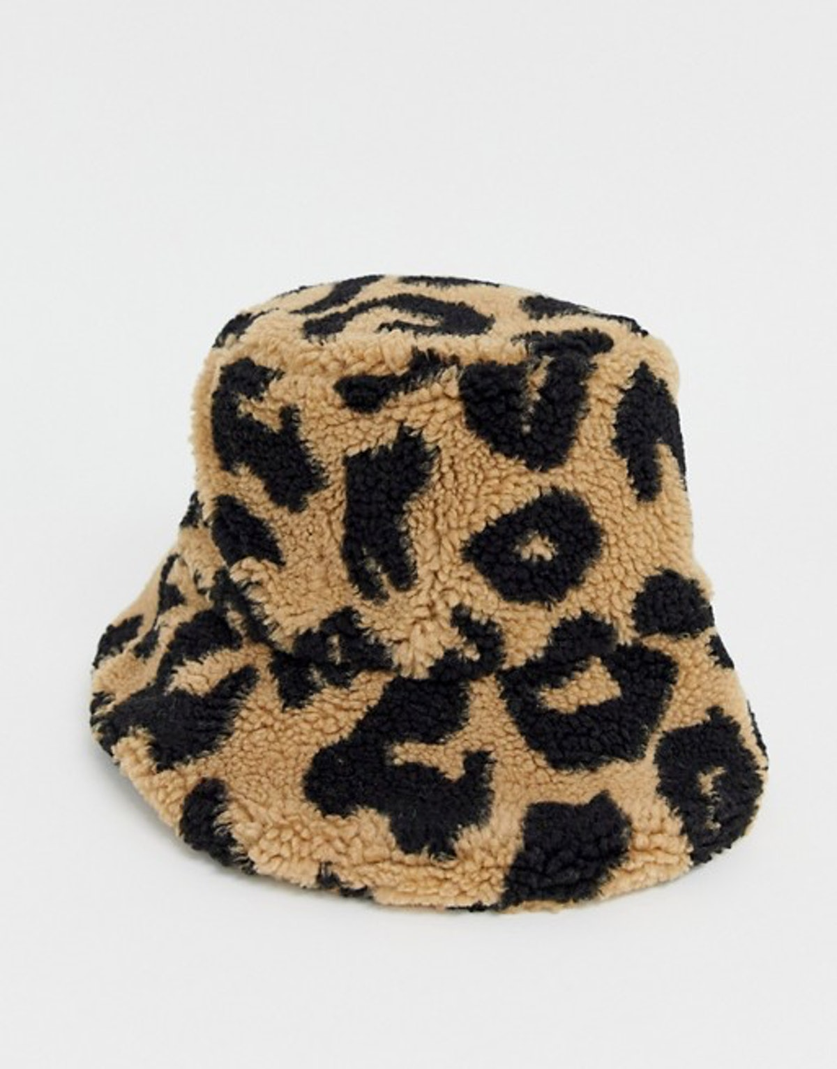 Leopard Borg Roll Back Bucket Hat