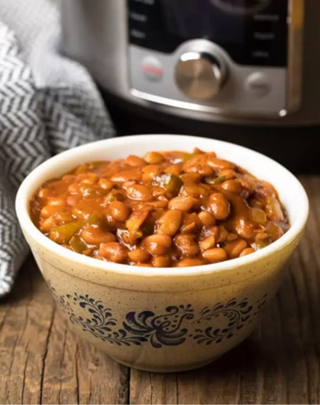 You can whip up these baked beans easily in your Instant Pot for the Super Bowl.