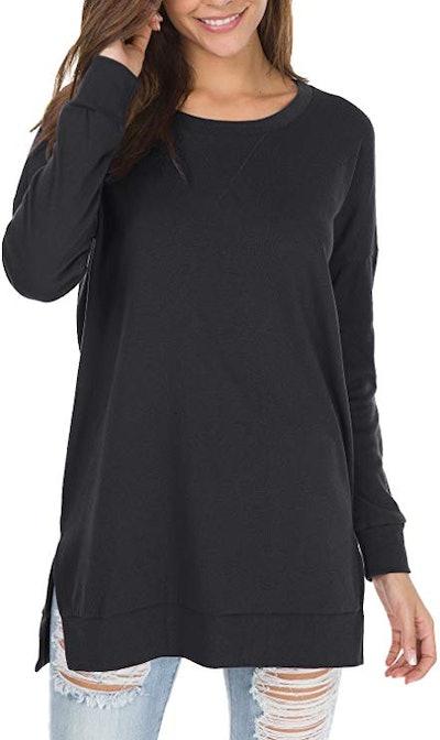 levaca Women's Fall Long Sleeve Tunic