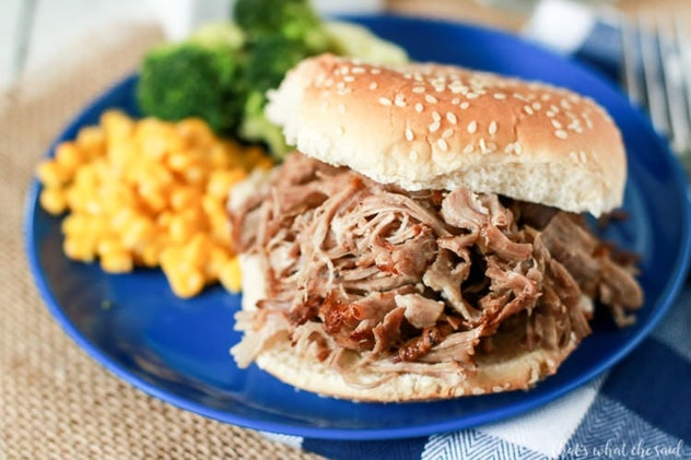 Pulled pork is perfect in the Instant Pot and can be used for so many snacks during your Super Bowl ...