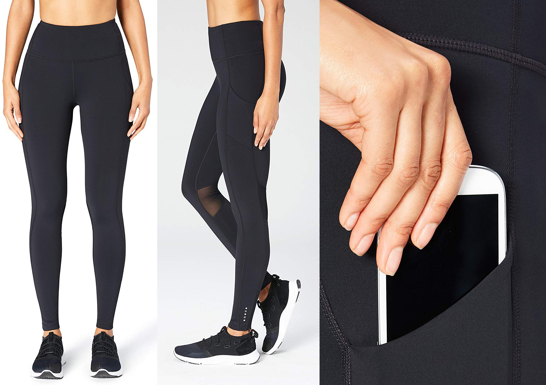 FITTIN Women/'s Workout Leggings with Pocket Pack of 3 Yoga Pants for Running