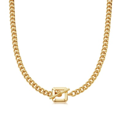 Lucy Williams Gold T Bar Chain Necklace