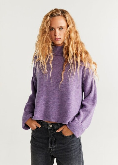 Rolled-up sleeves sweater