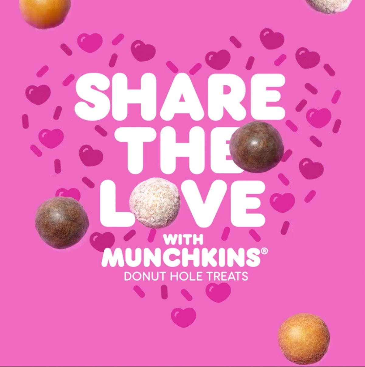 Dunkin's Valentine's Day 2020 Donuts include a $2 deal on Munchkin donut holes.