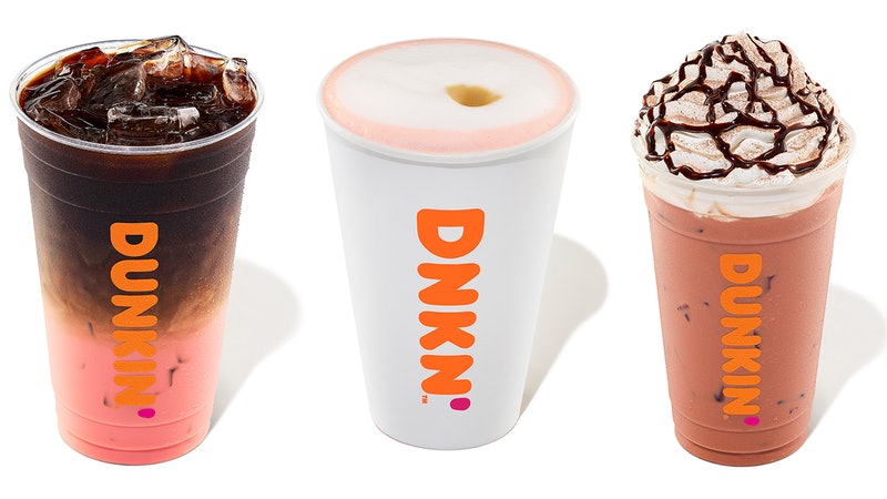 Dunkin's Valentine's Day 2020 line includes pink velvet-themed drinks and donuts.